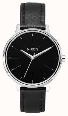 Nixon Kensington Leather | Black | Black Leather Strap | Black Dial A108-000-00