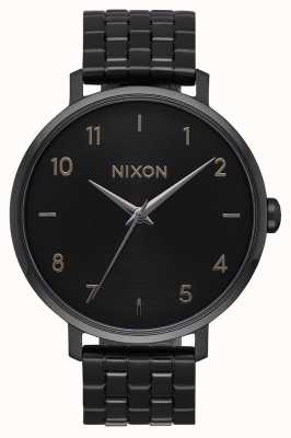 Nixon Arrow   All Black   Black IP Steel Bracelet   Black Dial A1090-001-00