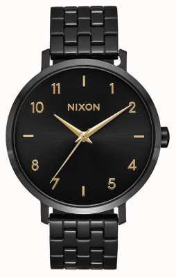 Nixon Arrow   Black / Gold   Black IP Steel Bracelet   Black Dial A1090-010-00