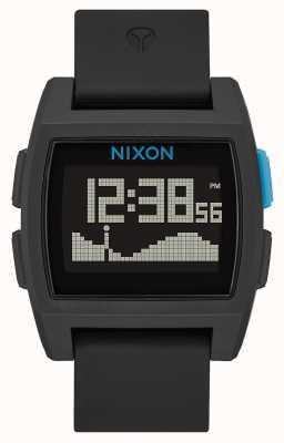 Nixon Base Tide | Black / Blue | Digital | Silicone Strap A1104-018-00