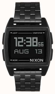 Nixon Base | All Black | Digital | Black IP Steel Bracelet | A1107-001-00