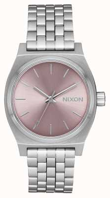 Nixon Medium Time Teller | Silver / Pale Lavender | Stainless Steel Bracelet | A1130-2878-00