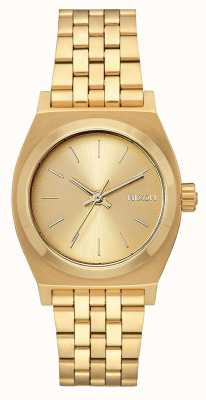 Nixon Medium Time Teller | All Gold | Gold IP Steel Bracelet | Gold Dial A1130-502-00
