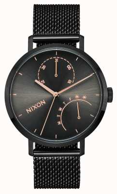 Nixon Clutch | Black / Gunmetal | Black IP Steel Mesh | Black Dial A1166-1420-00