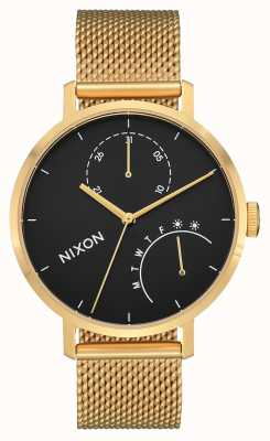 Nixon Clutch | Gold / Black | Gold IP Steel Mesh | Black Dial A1166-513-00
