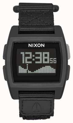 Nixon Base Tide Nylon | All Black | Digital | Black Nylon Strap A1169-001-00