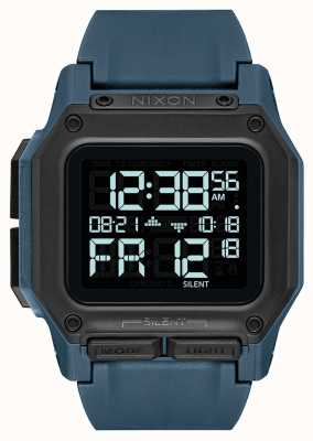 Nixon Regulus | Dark Slate | Digital | Blue TPU Strap A1180-2889-00