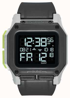 Nixon Regulus  | Black / White / Lime | Digital | Black TPU Strap A1180-3407-00