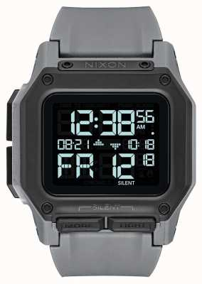 Nixon Regulus | All Gunmetal | Digital | Grey TPU Strap A1180-632-00