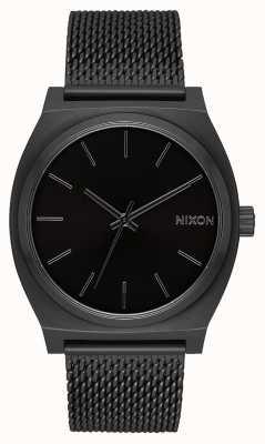 Nixon Time Teller Milanese | All Black | Black IP Steel Mesh | Black Dial A1187-001-00