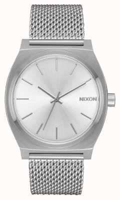 Nixon Time Teller Milanese | All Silver | Stainless Steel Mesh | Silver Dial A1187-1920-00
