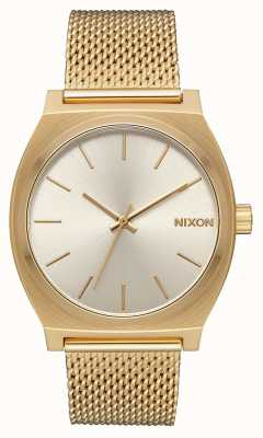Nixon Time Teller Milanese | All Gold / Cream | Gold IP Steel Mesh | Cream Dial A1187-2807-00