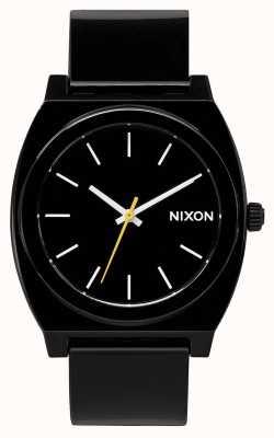 Nixon Time Teller P | Black | Black Plastic Strap | Black Dial A119-000-00
