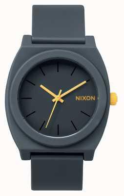 Nixon Time Teller P | Matte Steel Grey | Grey Silicone Strap | Grey Dial A119-1244-00