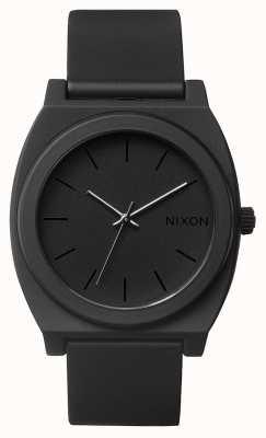 Nixon Time Teller P | Matte Black | Black Silicone Strap | Black Dial A119-524-00