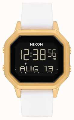 Nixon Siren SS | Gold / White | Digital | White Silicone Strap A1211-508-00