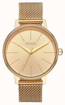 Nixon Kensington Milanese | All Gold | Gold IP Steel Mesh | Gold Dial A1229-502-00