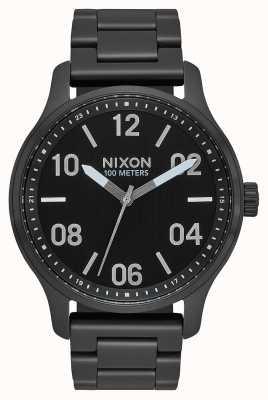 Nixon Patrol | Black / Silver | Black IP Steel Bracelet | Black Dial A1242-180-00