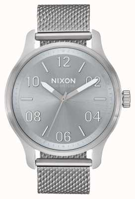 Nixon Patrol | All Silver / Lum | Stainless Steel Mesh | Silver Dial A1242-3316-00