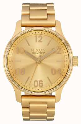 Nixon Patrol | All Gold | Gold IP Steel Bracelet | Gold Dial A1242-502-00