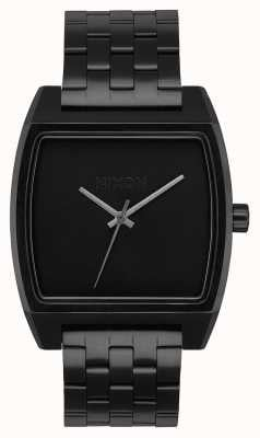 Nixon Time Tracker | All Black | Black IP Steel Bracelet | Black Dial A1245-001-00