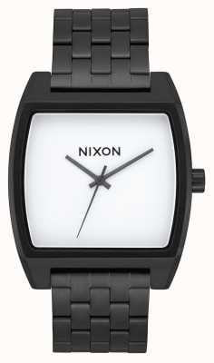 Nixon Time Tracker | Black / White | Black IP Steel Bracelet | White Dial A1245-005-00