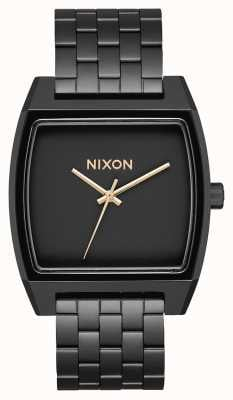 Nixon Time Tracker | Matte Black / Gold | Black IP Bracelet | Black Dial A1245-1041-00