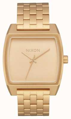 Nixon Time Tracker | All Gold | Gold IP Steel Bracelet | Gold Dial A1245-502-00