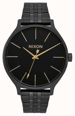 Nixon Clique | All Black | Black IP Steel Bracelet | Black Dial A1249-001-00