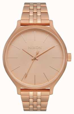 Nixon Clique | All Rose Gold | Rose Gold IP Steel Bracelet | Rose Gold Dial A1249-897-00