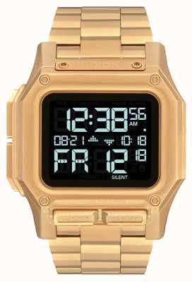 Nixon Regulus SS | All Gold | Digital | Gold IP Steel Bracelet | A1268-502-00