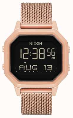 Nixon Siren Milanese | All Rose Gold | Digital | Rose Gold IP Steel Mesh | A1272-897-00
