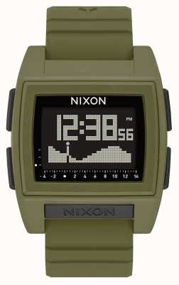 Nixon Base Tide Pro | Surplus | Digital | Green Silicone Strap A1307-1085-00