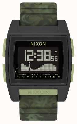 Nixon Base Tide Pro | Green Camo | Digital | Green Camo Strap A1307-1695-00