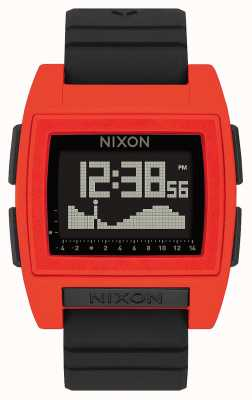 Nixon Base Tide Pro | Red / Black | Digital | Black Silicone Strap A1307-209-00