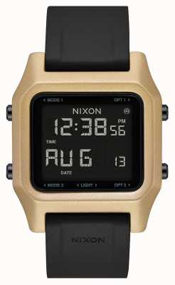 Nixon Staple | Black / Gold | Digital | Black Silicone Strap A1309-010-00