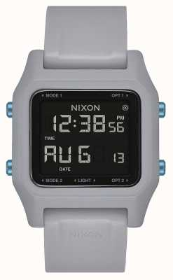 Nixon Staple | Light Grey | Digital | Grey Silicone Strap A1309-135-00