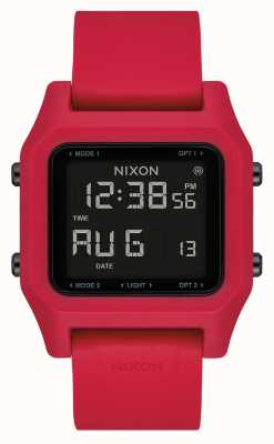 Nixon Staple | Red | Digital | Red silicone Strap A1309-200-00