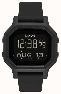 Nixon Siren | All Black | Digital | Black Silicone Strap A1311-001-00