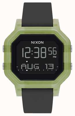 Nixon Siren | Clear Green | Digital | Black Silicone Strap A1311-3408-00