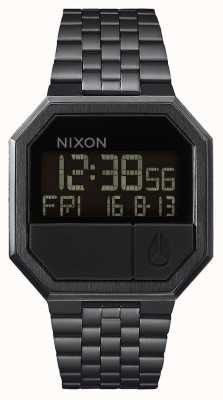 Nixon Re-Run | All Black | Digital | Black IP Steel Bracelet A158-001-00