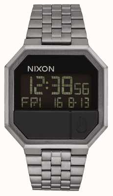 Nixon Re-Run | All Gunmetal | Digital | Gunmetal IP Steel Bracelet A158-632-00