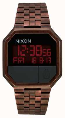 Nixon Re-Run | Antique Copper | Digital | Copper Coloured IP Steel Bracelet A158-894-00