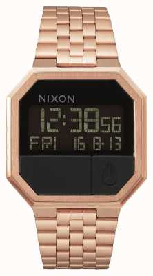 Nixon Re-Run | All Rose Gold | Digital | Rose Gold IP Steel Bracelet A158-897-00