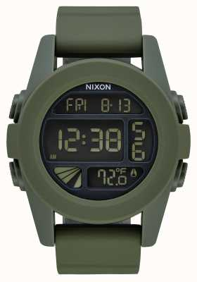 Nixon Unit | Surplus | Digital | Green Silicone Strap A197-1085-00