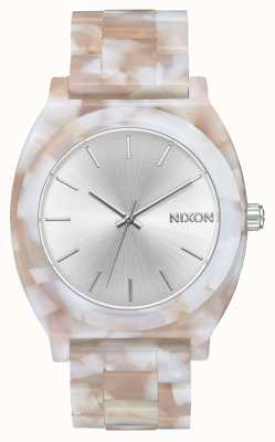 Nixon Time Teller Acetate | Pink / Silver | Silver Dial A327-718-00