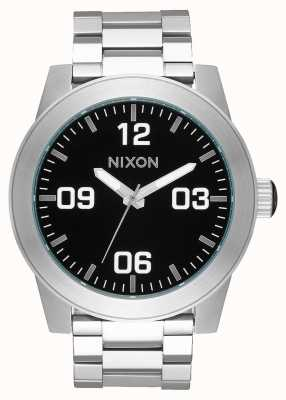 Nixon Corporal SS | Black | Stainless Steel Bracelet | Black Dial A346-000-00