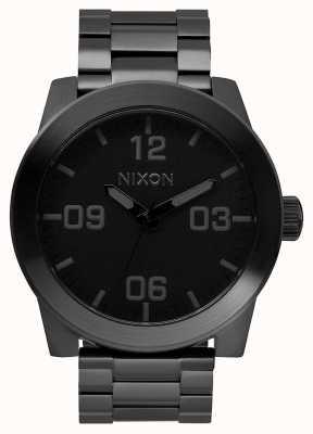 Nixon Corporal SS | All Black | Black IP Steel Bracelet | Black Dial A346-001-00