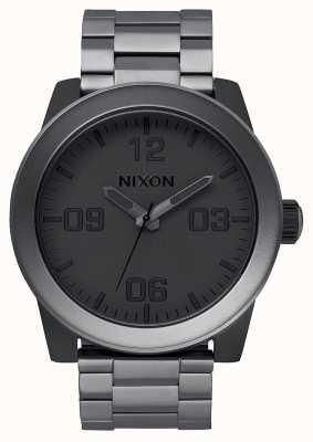 Nixon Corporal SS | Matte Black / Matte Gunmetal | IP Steel Bracelet | A346-1062-00
