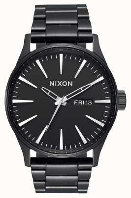 Nixon Sentry SS | All Black | Black IP Steel Bracelet | Black Dial A356-001-00